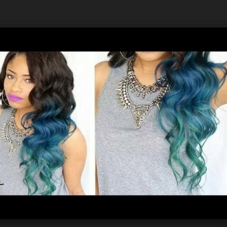 3 Tone Mermaid Ombre Hair