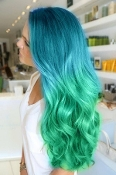 2 Tone Mermaid Ombre Hair Green