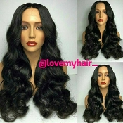 Virgin Human Hair Brazilian Natural/Loose Wave Full Lace Wig