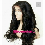 Virgin Human Hair Brazilian Full Lace Wig