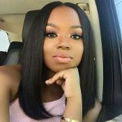 Virgin Human Hair Brazilian Straight Full Lace Wig 3