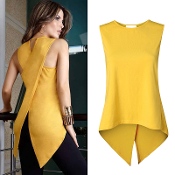 Sleeveless Yellow Blouse
