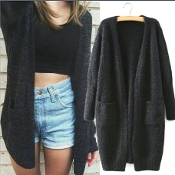 Oversized Long Sleeve Sweater Cardigan