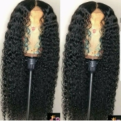 Virgin Human Hair Brazilian Deep Wave Full Lace Wig 2