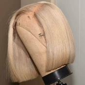 Blonde Virgin Human Hair Full Lace Bob Wig