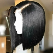 Virgin Human Hair Brazilian Straight Full Lace Wig 5