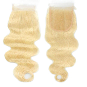 613 Blonde Closure Virgin Human Hair