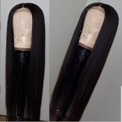 #0000000000003 Lace Front Straight Virgin Human Hair Wig