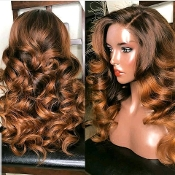 #00000009 Custom Color Lace Front Virgin Human Hair Wig