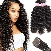 3 Bundle Deep Wave Special PLUS FREE CLOSURE 4 X 4