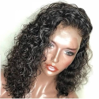 #000002 Lace Front Deep Wave Bob Virgin Human Hair Wig