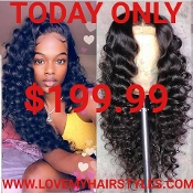 ##4 Lace Front Preplucked Glueless Virgin Human Hair Wig