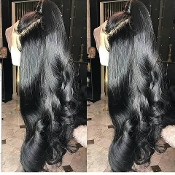 #00000000000003 Lace Front Loose Wave Virgin Human Hair Wig