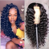 #00000000000002 Lace Front Curly Virgin Human Hair Wig