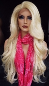 #00000000B23 #613/Blonde Lace Front Wavy Virgin Human Hair