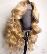 #0000000991 Lace Front Blonde Wavy Virgin Human Hair