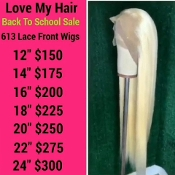 #00000000000000002 #613 Lace Front Wig Virgin Human Hair