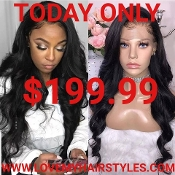 ##5 Lace Front Preplucked Glueless Virgin Human Hair Wig