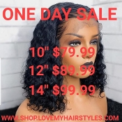 ####1 Lace Front Glueless Preplucked Virgin Human Hair Wig