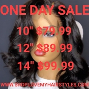 ####2 Lace Front Glueless Preplucked Virgin Human Hair Wig