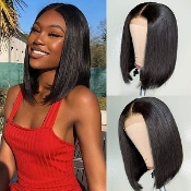 #######2 Preplucked Glueless Invisible Lace Front Wig