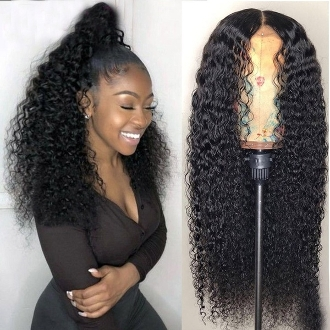 ########091 Preplucked Glueless Invisible Lace Front Wig