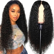 ########093 Preplucked Glueless Invisible Deep Wave Lace Front