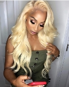 ########07 613 Lace Front Preplucked Invisible Body Wave Wig