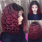 #########03 Lace Front 1B/99J Deep Wave Curly Wig