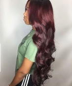 #########06 Lace Front 99J Body Wave Wig