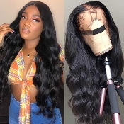 #########004 Preplucked Glueless Invisible Lace Front Wig