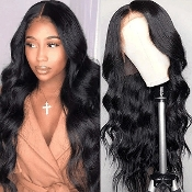 #########005 Preplucked Glueless Invisible Lace Front Wig