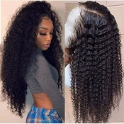 #########0008 Preplucked Glueless Invisible Lace Front Wig