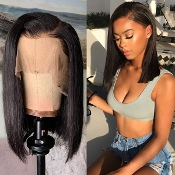 ##########004 Preplucked Glueless Invisible Lace Front Wig