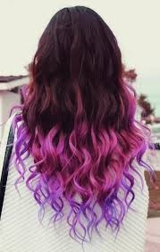 3 Tone Ombre Mermaid Hair Purple
